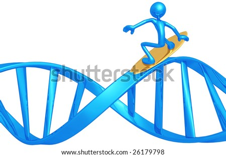 Surfing DNA - stock photo