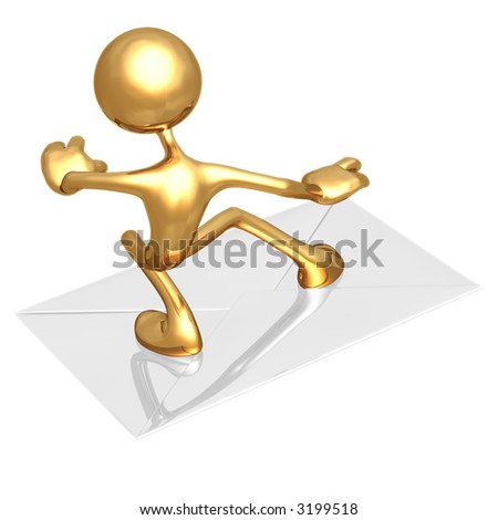 Surfing On E-Mail - stock photo