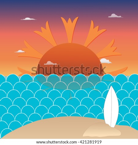 surfing paradise  - stock photo