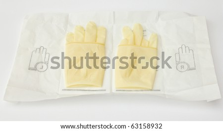Surgical gloves preparing for surgery