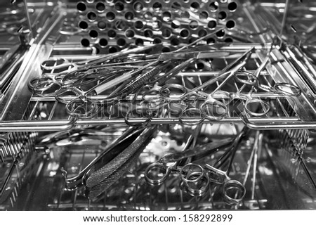 Surgical instruments in the sterilizer