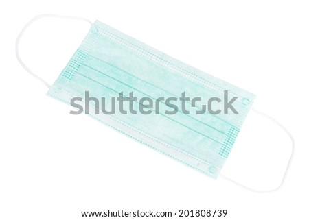 Surgical Mask Isolated on White Background - stock photo