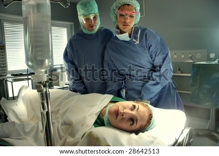 surgical operation - stock photo