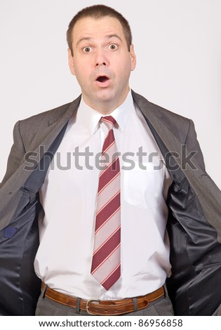 Surprise businessman