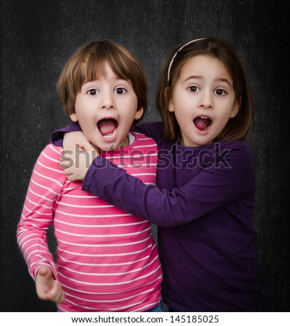 surprise for children - stock photo