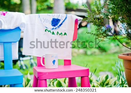 Surprise for Mom - stock photo