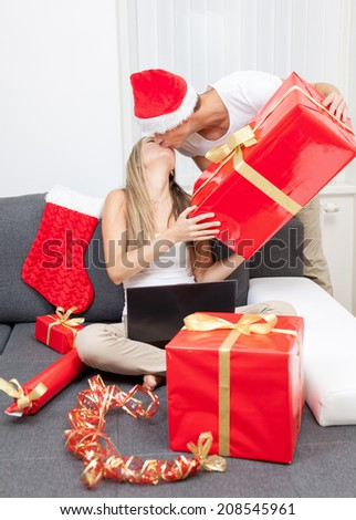 Surprise your partner with the perfect present this Christmas - stock photo