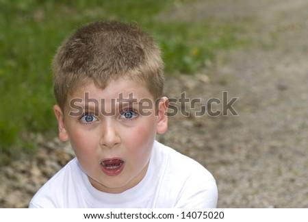 Surprised Boy - stock photo