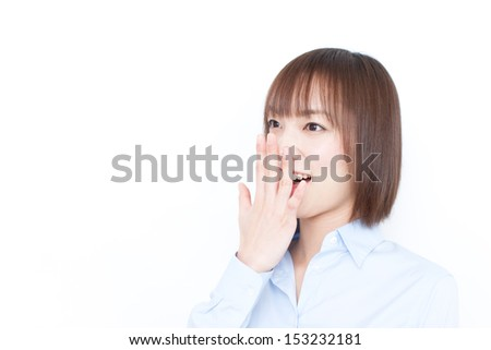 surprised business woman - stock photo