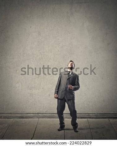 Surprised businessman  - stock photo