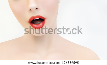 Surprised expression - stock photo