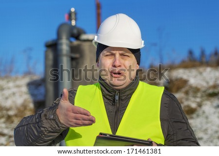 Surprised worker