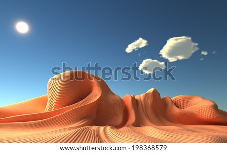 Surreal  3d illustration - stock photo