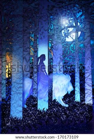 Surreal Fairytale Dream - stock photo