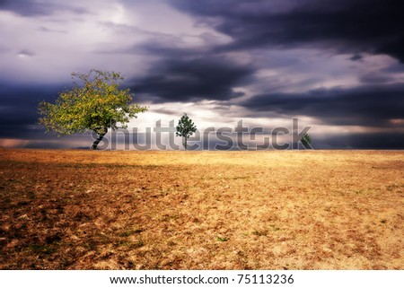 Surreal landscape - stock photo