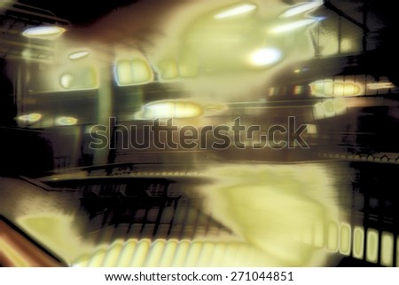Surreal Photography of a Railway Station - stock photo