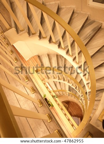 Surreal stairs vertical - stock photo