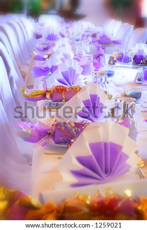 Surreal table setting - stock photo