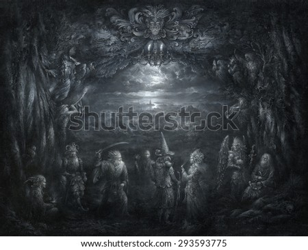 Surreal theater - stock photo