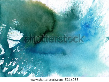 surreal water colour texture - stock photo