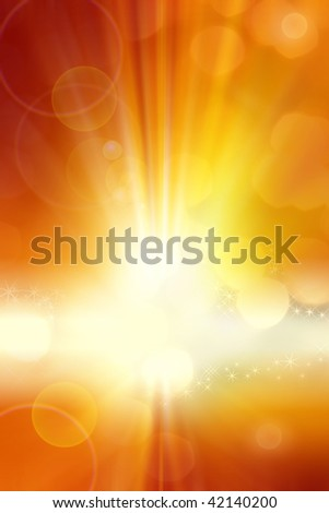 Surreal yellow and orange tone background. Copy space. - stock photo