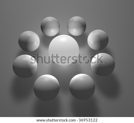 surround - stock photo