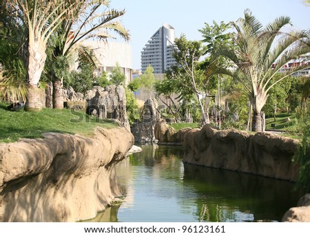 Surroundings in Bio-park Valencia - stock photo