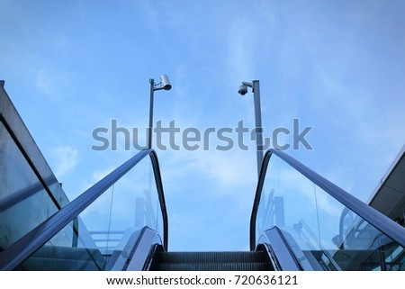 surveillance cameras at the station exit