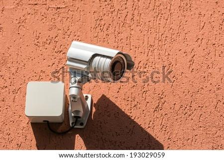 Surveillance Security Camera - stock photo