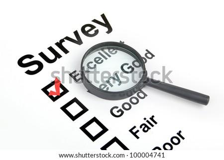 Survey - stock photo