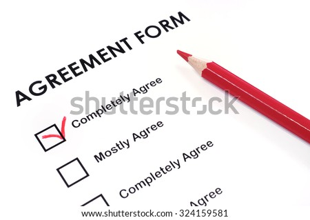 Survey card - stock photo