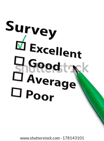 Survey form - stock photo