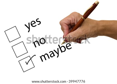Survey with a hand holding a pen, excellent customer service - stock photo