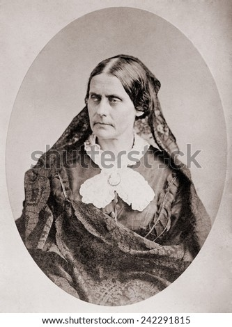 Susan B. Anthony (1820 _1906), American women's rights leader , ca. 1860. - stock photo