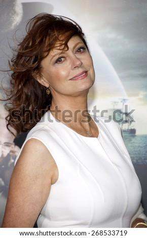 Susan Sarandon at the Los Angeles premiere of 'Cloud Atlas' held at the Grauman's Chinese Theatre in Hollywood on October 24, 2012.