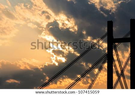 Suset in Belgrade Serbia - stock photo
