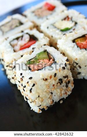 Sushi California Rolls - stock photo