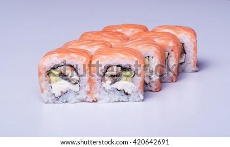 Sushi, close up shot - stock photo