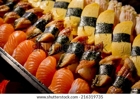 Sushi collections background texture