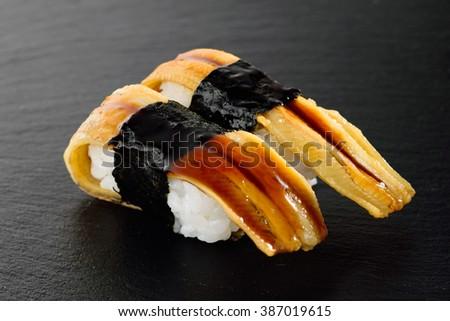 sushi conger eel - stock photo