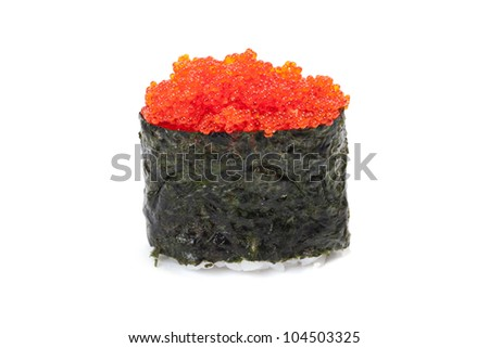 Sushi Gunkan, tobiko - stock photo