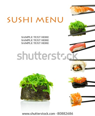 Sushi menu - stock photo