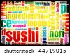 Sushi Menu Background for Japanese Food Meal - stock photo