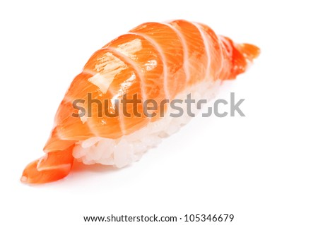 Sushi nigiri, Syake, Salmon - stock photo