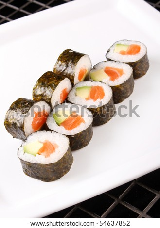 sushi on the plate