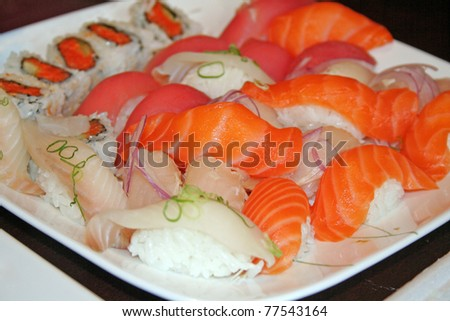 Sushi plate - stock photo