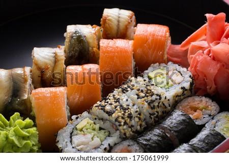 Sushi roll - stock photo