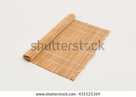 sushi rolling mat isolated on white background
