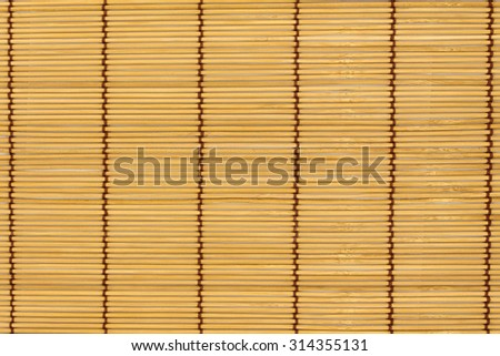 sushi rolling roller bamboo material mat maker isolated white background - stock photo