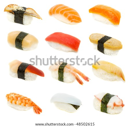 sushi set - japan cousine - stock photo
